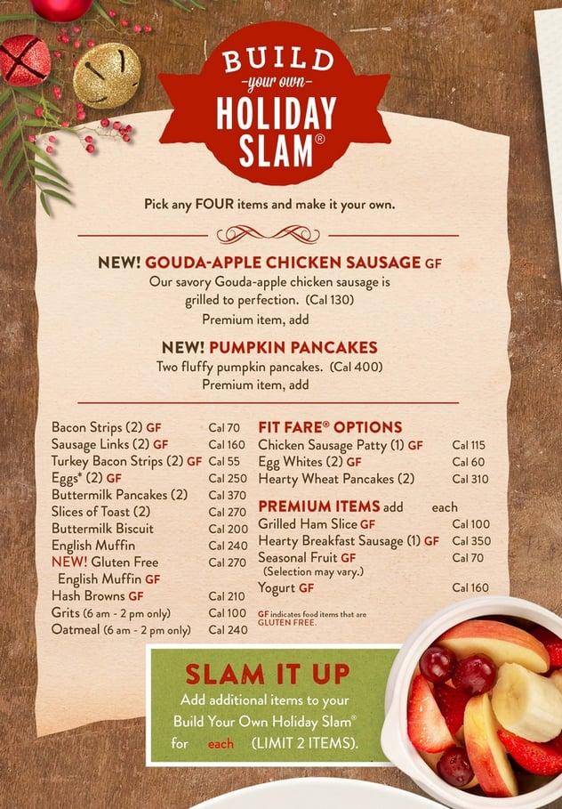 dennys holiday menu holiday slamjpg - Menu Design Ideas