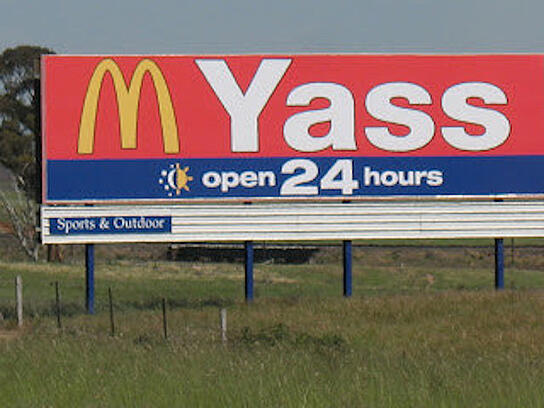McDonalds Billboard Fail